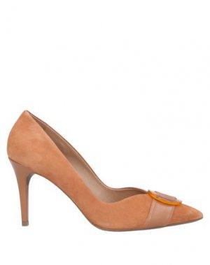 Туфли AREZZO. Цвет: желто-коричневый