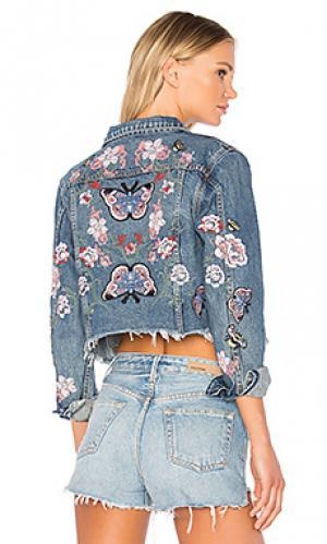 Укороченная джинсовка cara GRLFRND. Цвет: none