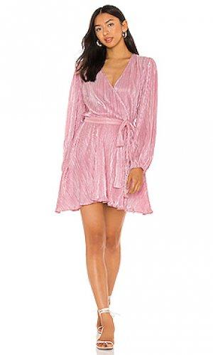 Мини платье bellissa Bardot. Цвет: розовый