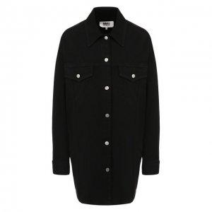 Джинсовая куртка Mm6. Цвет: чёрный
