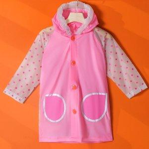 Детский дождевик в горошек SHEIN. Цвет: розовые