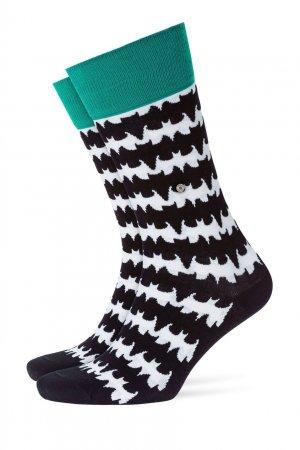 Черные хлопковые носки Bat Burlington. Цвет: черный