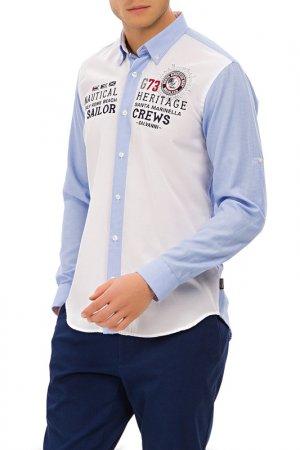 Рубашка Galvanni. Цвет: light blue, white