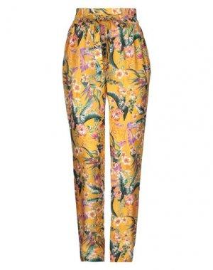 Повседневные брюки SET. Цвет: охра