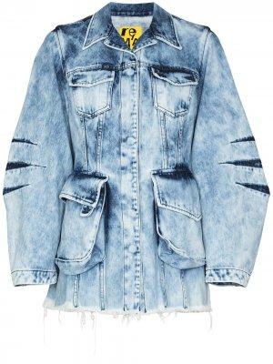 MarquesAlmeida джинсовая куртка из вареного денима Marques'Almeida. Цвет: синий