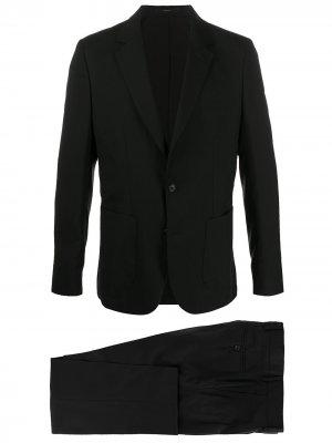 Приталенный костюм-двойка PAUL SMITH. Цвет: черный