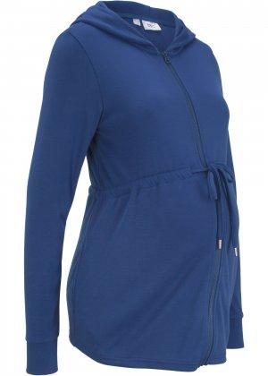 Куртка для беременных, трикотаж bonprix. Цвет: синий