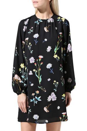 Платье BELUCCI. Цвет: черный, принт цветы