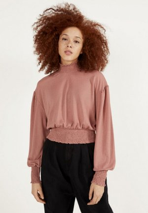 Блуза Bershka. Цвет: розовый