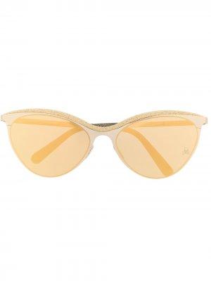 Солнцезащитные очки Paris Philipp Plein. Цвет: золотистый