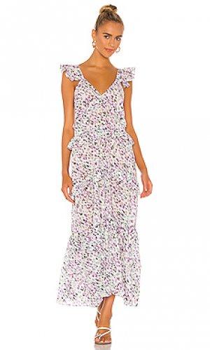 Платье morrison MISA Los Angeles. Цвет: белый
