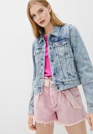 Куртка джинсовая Free People. Цвет: голубой