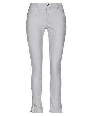 Повседневные брюки FOREVER UNIQUE. Цвет: светло-серый