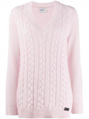 Пуловер с V-образным вырезом be blumarine. Цвет: розовый
