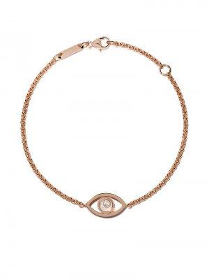 18kt rose gold Good Luck Charms diamond bracelet Chopard. Цвет: розовый