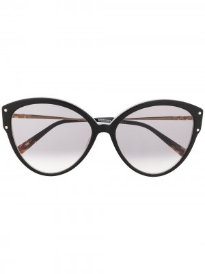 Солнцезащитные очки в оправе кошачий глаз Missoni. Цвет: черный