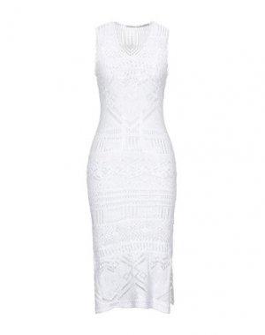 Платье длиной 3/4 FAIRLY. Цвет: белый