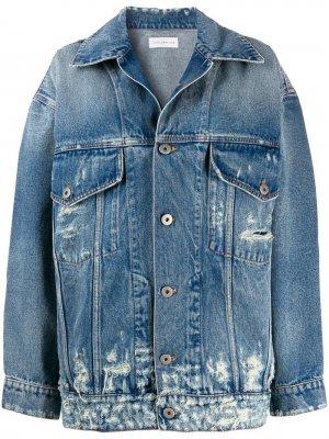 Удлиненная джинсовая куртка с эффектом потертости Faith Connexion