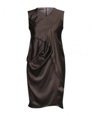 Короткое платье ANDREA TURCHI. Цвет: темно-коричневый