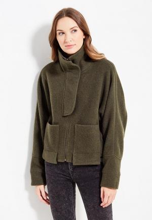 Куртка Mango - WOOL. Цвет: хаки