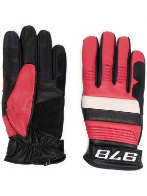 Перчатки со вставками Diesel. Цвет: красный