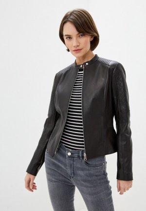 Куртка кожаная Boss Sadeno1. Цвет: черный