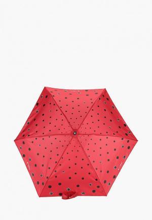 Зонт складной Flioraj 5 сложений. Цвет: бордовый