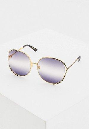 Очки солнцезащитные Gucci GG0595S 005. Цвет: золотой