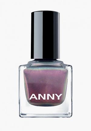 Лак для ногтей Anny тон 366.10 голографик розовый с зеленью. Цвет: розовый
