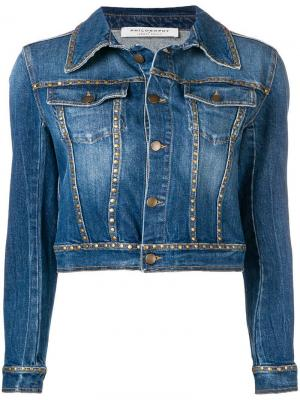 Джинсовая куртка с заклепками Philosophy Di Lorenzo Serafini. Цвет: синий