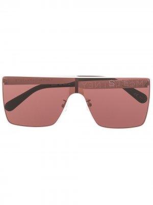 Солнцезащитные очки в массивной квадратной оправе Stella McCartney Eyewear. Цвет: белый