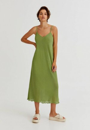 Сарафан Pull&Bear. Цвет: зеленый