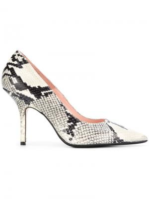 Snakeskin effect pumps Anna F.. Цвет: бежевый