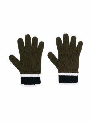 Трикотажные перчатки Emporio Armani Kids. Цвет: зеленый