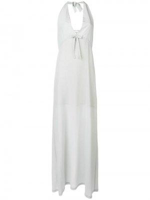 Длинное платье халтер Semicouture