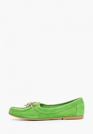 Мокасины Dali. Цвет: зеленый