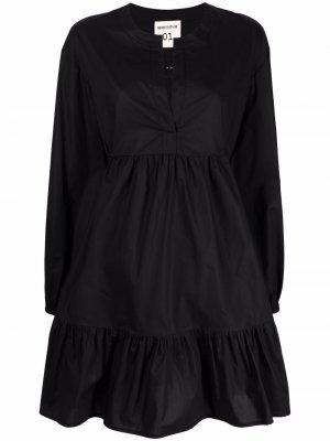 Ярусное платье мини Semicouture. Цвет: черный
