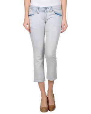 Джинсовые брюки-капри PORTOBELLO BY PEPE JEANS. Цвет: синий