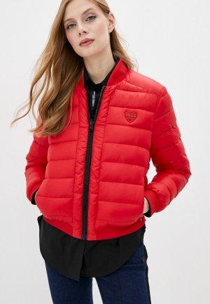 Куртка утепленная Love Moschino Reversible. Цвет: красный