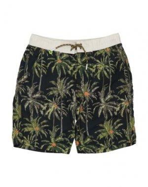 Пляжные брюки и шорты SCOTCH & SHRUNK. Цвет: темно-синий