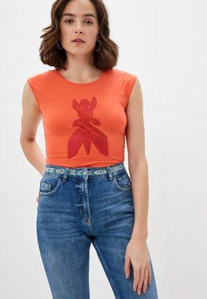Майка Patrizia Pepe. Цвет: оранжевый