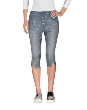 Джинсовые брюки-капри MANILA GRACE DENIM. Цвет: синий