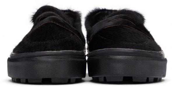 Black Faux-Pony Style 53 LX Loafers Vans. Цвет: black black