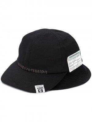 Шляпа с логотипом Maison Mihara Yasuhiro. Цвет: черный