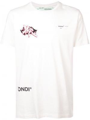 Футболка Dondi Off-White. Цвет: белый