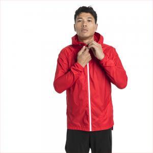 Ветровка Lightweight Hooded Jacket PUMA. Цвет: красный