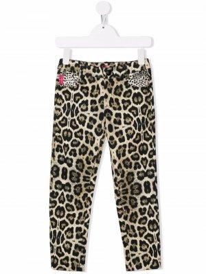 Leopard-print skinny trousers John Richmond Junior. Цвет: нейтральные цвета