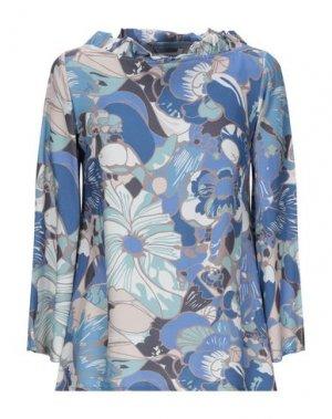 Блузка BINI Como. Цвет: бирюзовый