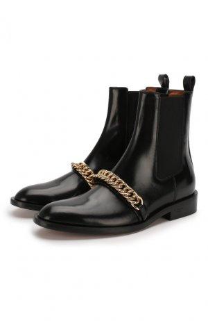 Кожаные челси Chain Givenchy. Цвет: черный