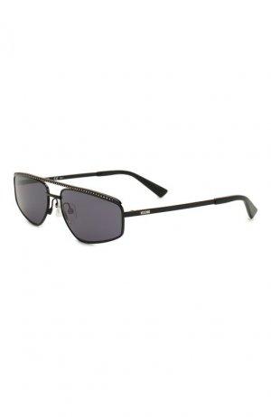 Солнцезащитные очки Moschino. Цвет: чёрный